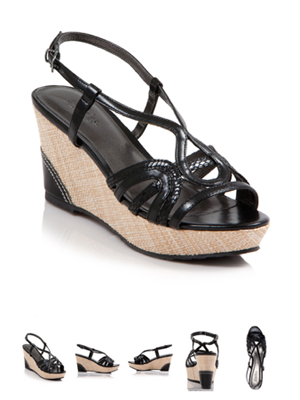 Argent Faux Leather Wedge