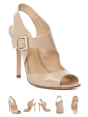 Elegance Patent Cutout Sandal