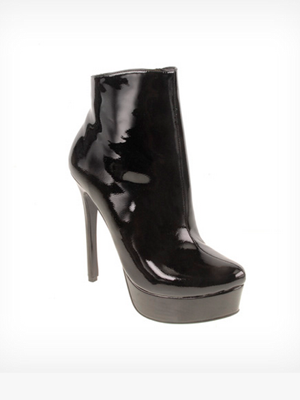 Footloose Patent Leather Ankle Boot