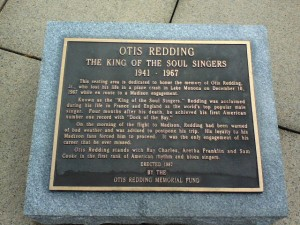 Otis Redding Memorial Plaque at Monona Terrace